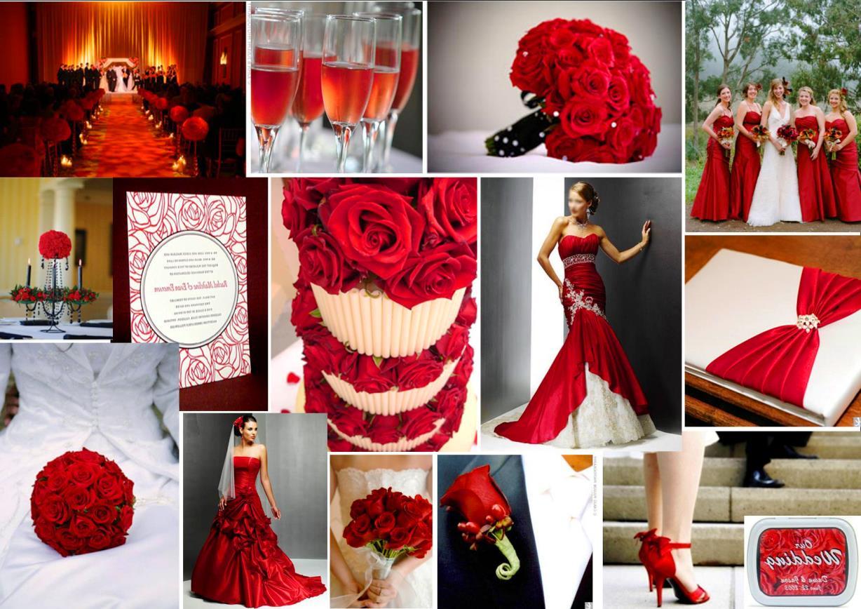 Свадьба в красном цвете - наряды жениха и невесты, идеи оформления, фото 9