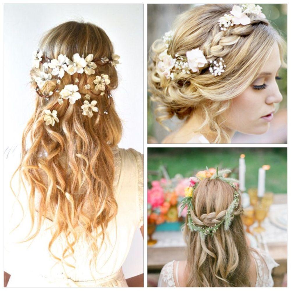 Прически свадебные на средние волосы с украшением