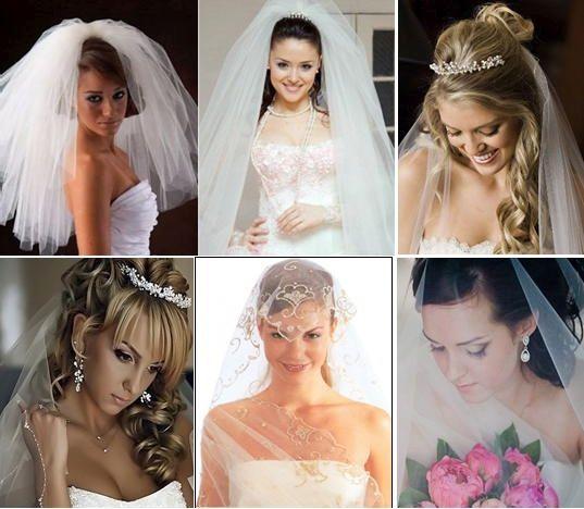 как сделать свадебные прически на длинные волосы с фатой