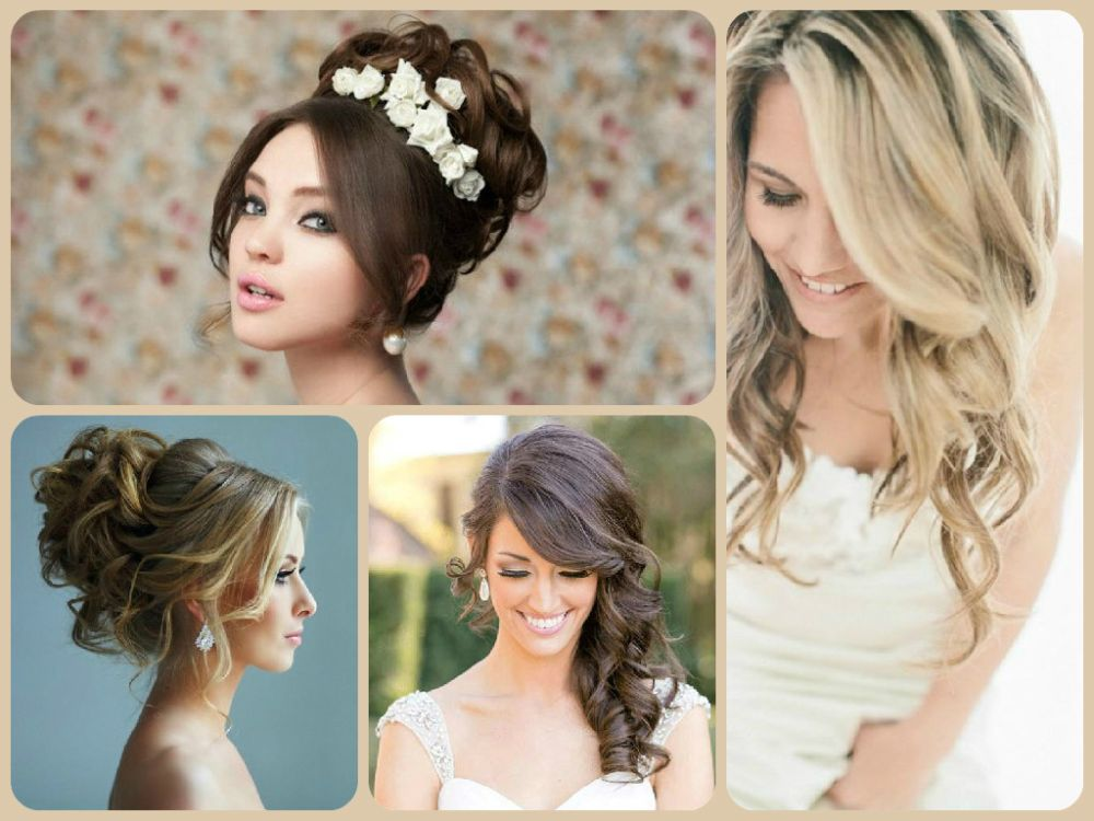 свадебные прически на средние волосы распущенные фото