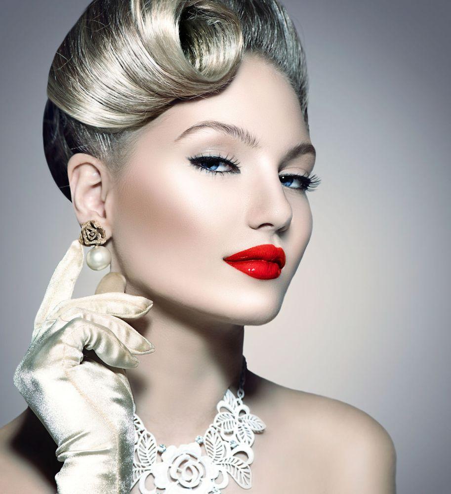Прически макияж леди