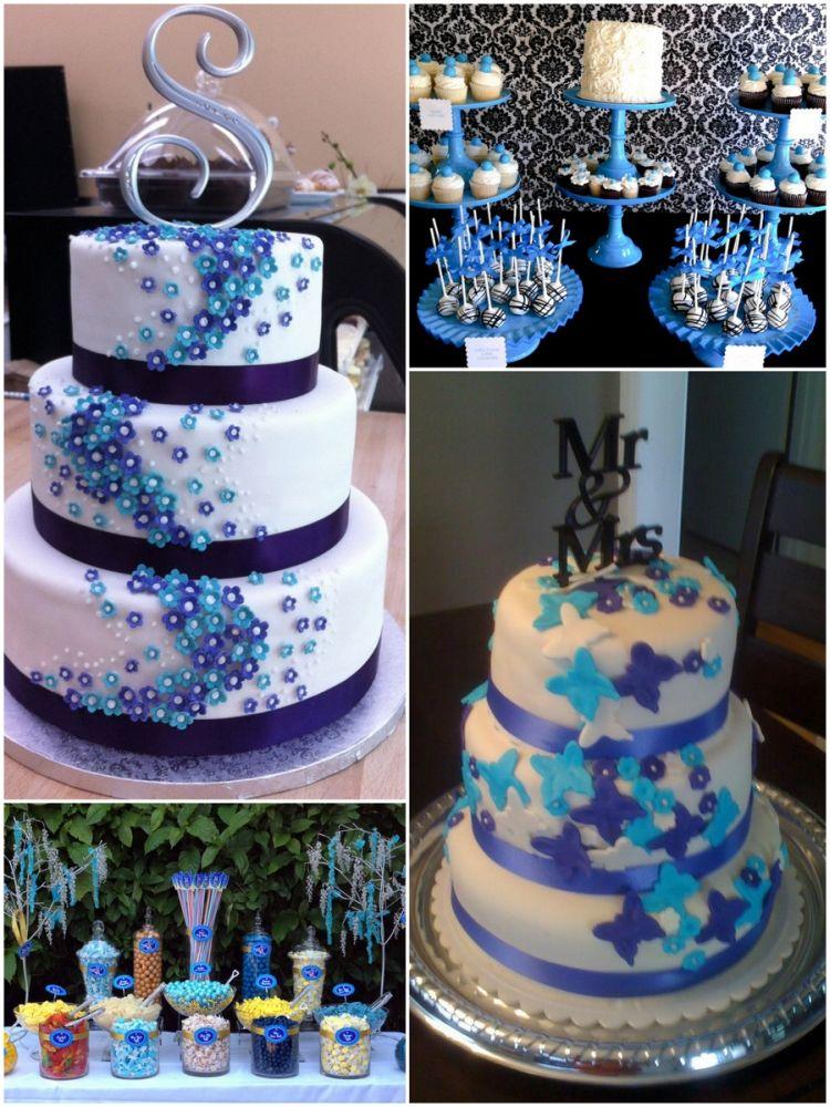 Синий торт своими руками 36
