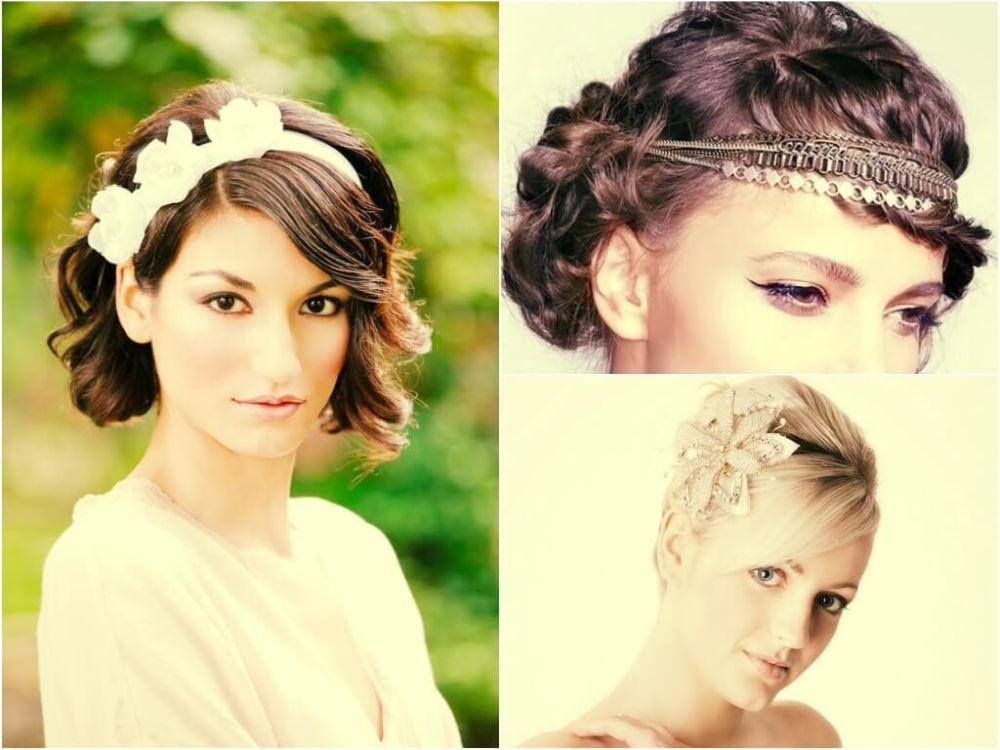Свадебные причёски на кароткие волосы