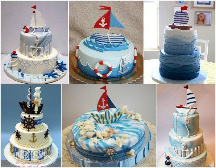 Торт морская тематика фото из крема