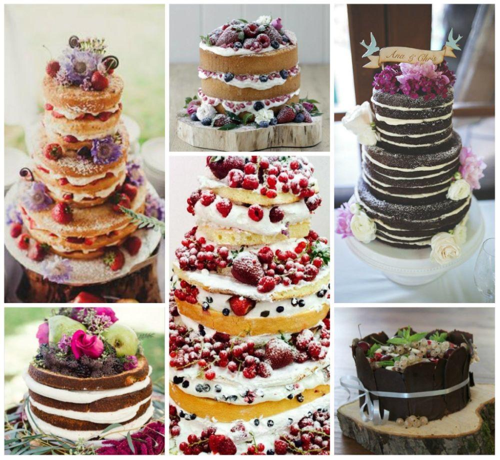 Голый торт на свадьбу – отличная альтернатива классическому варианту изоражения