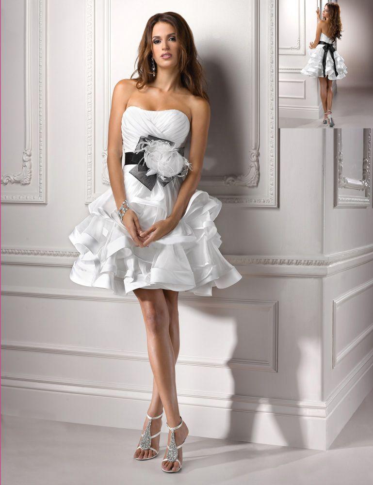 Свадебное платье короткое своими руками