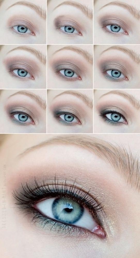 Макияж на серо-голубые глаза в домашних условиях