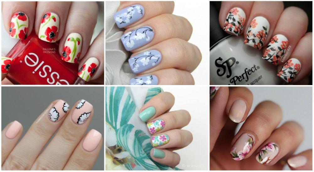 Сложные рисунки на ногтях