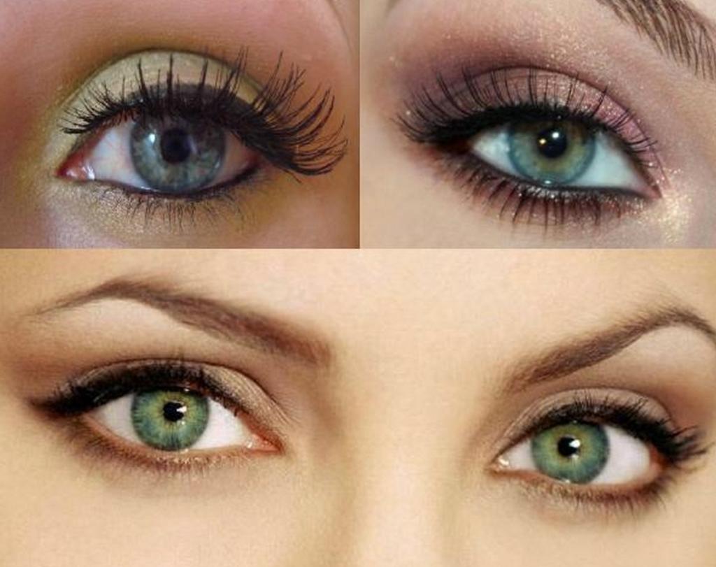 Фото макияж на каждый день для зелёных глаз