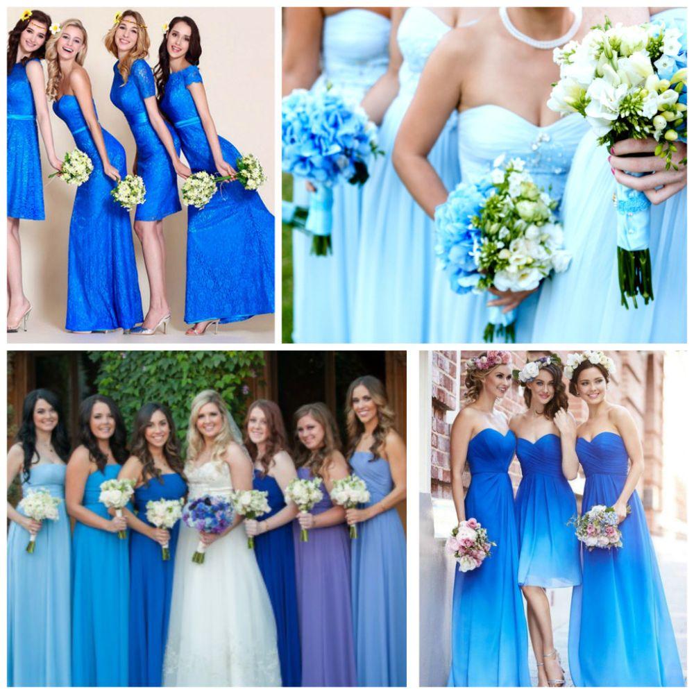 Синее платье на свадьбу подруги фото