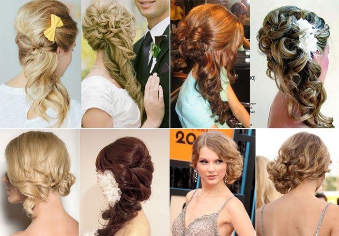 Прическа на короткие волосы на свадьбу для свидетельницы