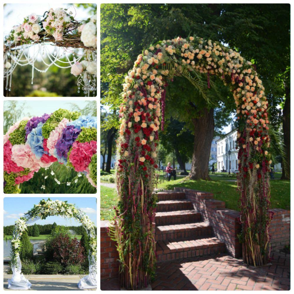 Оформление арки для свадьбы