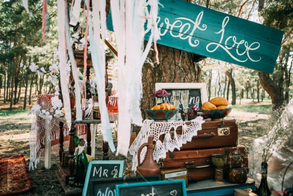 Оформление свадьбы в стиле бохо