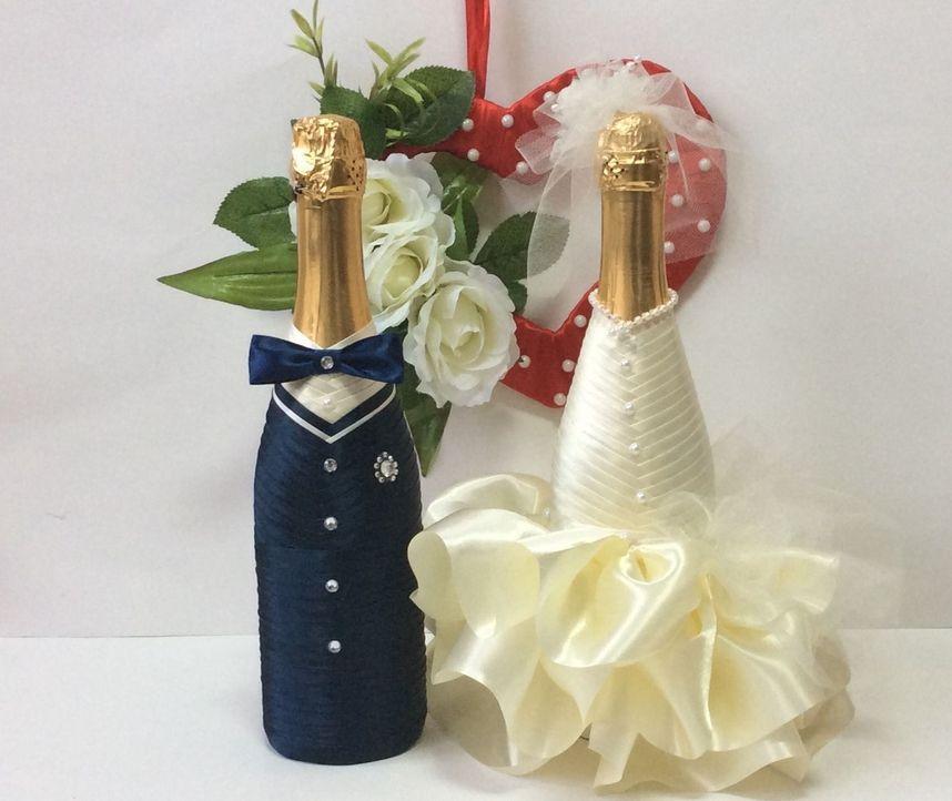 Как сделать украшение на шампанское 570